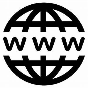 Clipart - WWW Icon - Black