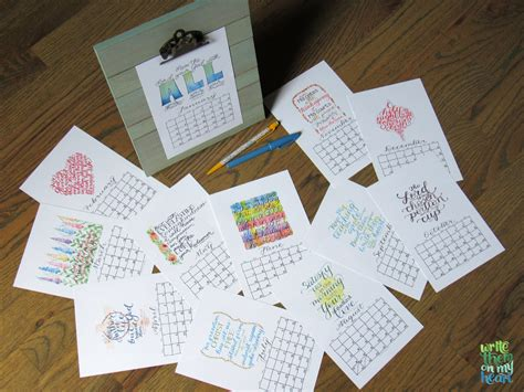 christian printable wall calendars write