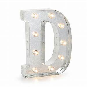 darice 02815 galvanized silver lighted letter symbol With galvanized marquee lighted letter