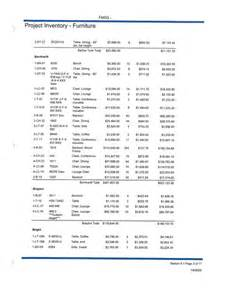 St Inventory Spreadsheet by Furniture Inventory Facility Management Services