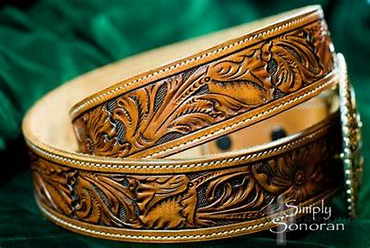 Leather Belt Custom Tooled Hand Tanner Gorgeous