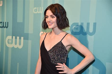 Lucy Hale admitted she had to cover up hickeys on the set ...