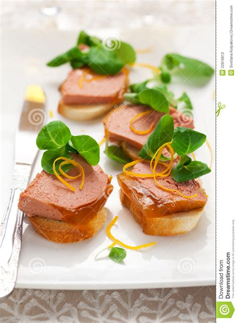 canape with pate stock photos image 22816813