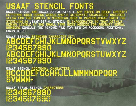 usaaf stencil font dafontcom