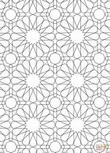 Islamic Coloring Pattern Pages Mosaic Patterns Printable Drawing Roman Colouring Sheets Colour Geometric Designs Numerals Bible Main Alhambra Getcolorings Paintingvalley sketch template