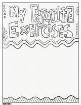 Coloring Favorite Exercises Printable Classroom Pe Doodles sketch template