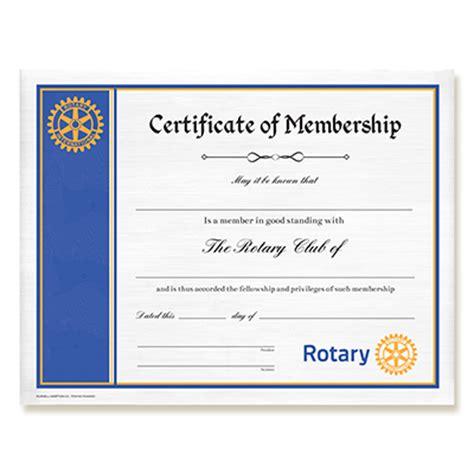rotary certificate  membership rotary club supplies