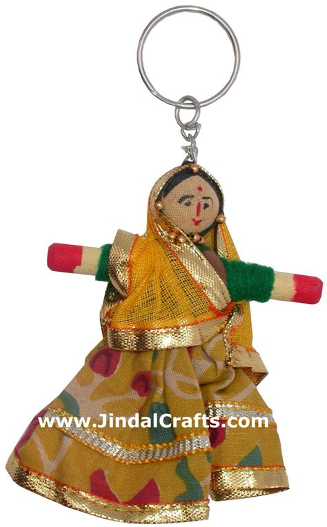 indian saree dolls handmade traditional key chain ring