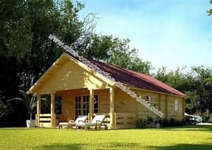 Chalet Bois Kit : chalet en kit haut de gamme harfleur avec terrasse couverte ~ Carolinahurricanesstore.com Idées de Décoration