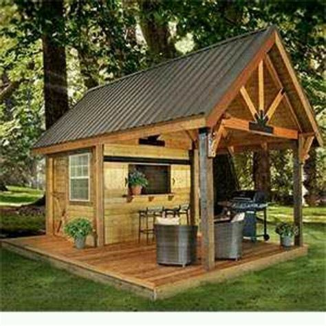 Backyard Saloon by Barbecue Shed For The Back Yard Outdoor Living