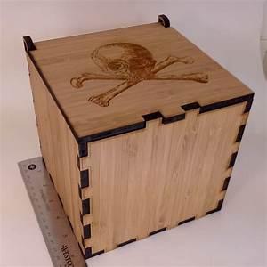 Laser cut wood box assembled Misadventures in Software