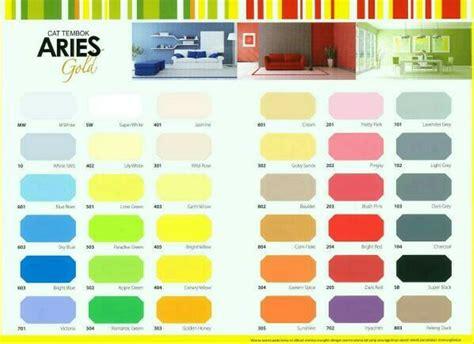 jual cat aries cat tembok  kg tersedia  warna