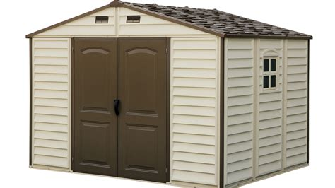 outside storage shed duramax 30214 vinyl woodside 10 5x8 shed on with free