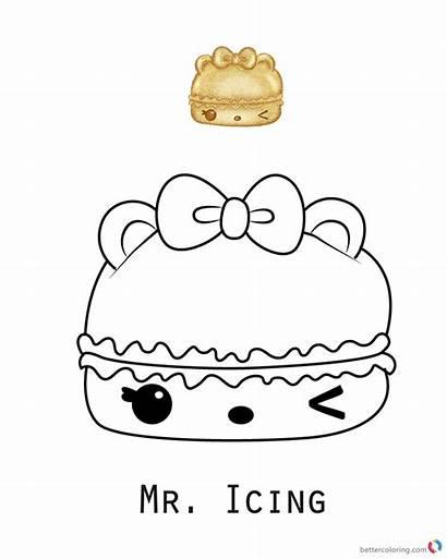 Num Coloring Noms Icing Mr Nom Printable