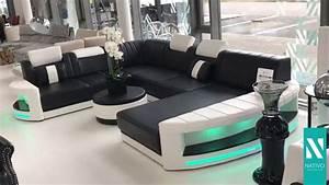 Sofa Mit Led Und Sound : nativo mobilier france canap design atlantis xxl avec clairage led youtube ~ Orissabook.com Haus und Dekorationen