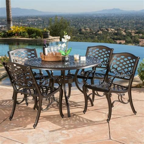Patio Dining Furniture Sale by Patio Furniture Sets Clearance Dining Set Aluminum 5