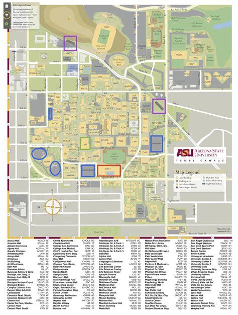 Arizona State University Tempe Campus Map.Arizona State Tempe Campus Map