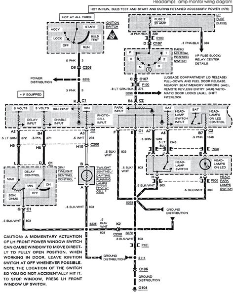 manual  buick park avenue system wiring diagrams