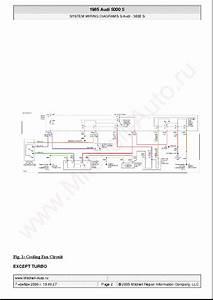 Audi 5000 S 1985 Wiring Diagrams Sch Service Manual