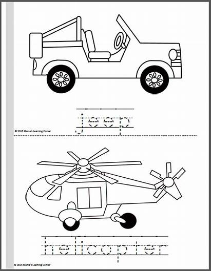 Coloring Transportation Pages Limousine Learning Bus Corner