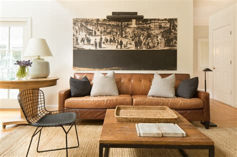 color scheme caramel color couch natural fiber rug