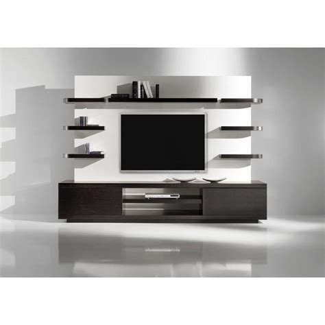 Oversized Media Cabinet Storage Made Of Wooden In Black