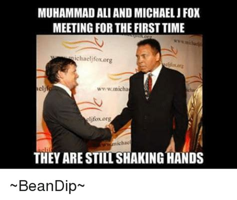 Michael J Fox Meme - muhammad aliand michael j fox meeting for the first time ichaelifox org wwwmicha lifoxorg nichae