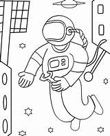 Astronaut Coloring Pages Space Printable Sheets Cool2bkids Cosmonaut Children Spaceman Repairs Makes Drawings Moon Astronauts Adults Cartoon Getcoloringpages Outer Preschool sketch template