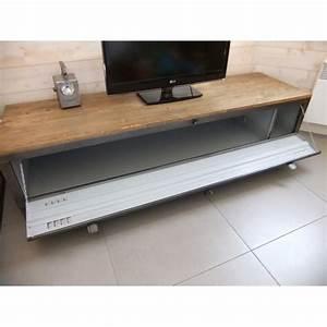 Meuble Tv Casier Industriel : meuble tv industriel avec ancien vestiaire heure cr ation ~ Nature-et-papiers.com Idées de Décoration