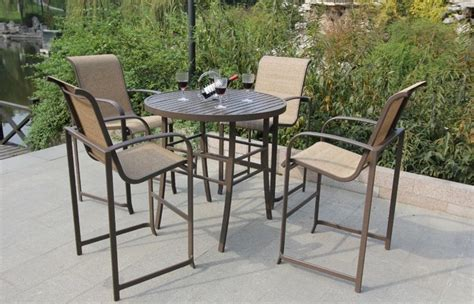 Cheap Patio Table And Chairs by Furniture Beautiful Bar Height Patio Set For Outdoor