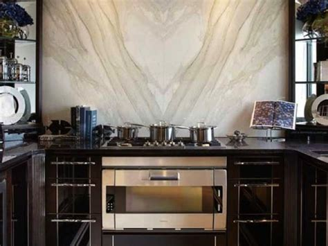 how to put backsplash in the kitchen book matched marble kitchen backsplash interiors 9532