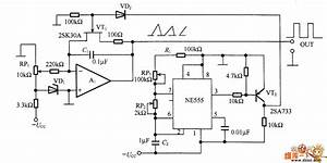 The Ne555 Sawtooth Wave Generator Circuit