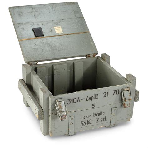 Nato Military Issue Wood Grenade Box, Ammo Storage