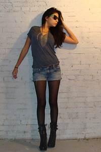 Black F21 Boots Black Tights Blue American Eagle Shorts Gray F21 Ts Shirts | u0026quot;The Good Times ...
