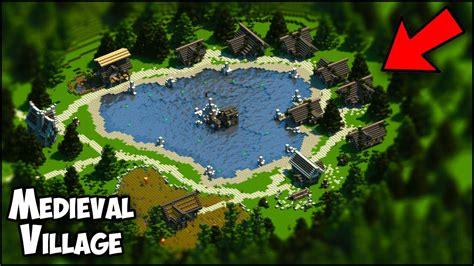 minecraft medieval village timelapse map  youtube
