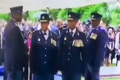 viral clip shows embarrassing saps salute blunder