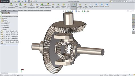 Sketch Differential Gear Box In