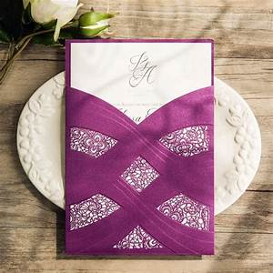 our elegant alyssa wedding stationery suite plum laser With laser cut wedding invitations toronto