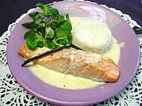 cuisiner filet de saumon recette pavé de saumon et sa crème vanille notée 4 5