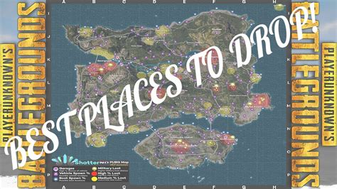pubg loot map pubg loot map explanation where when to drop