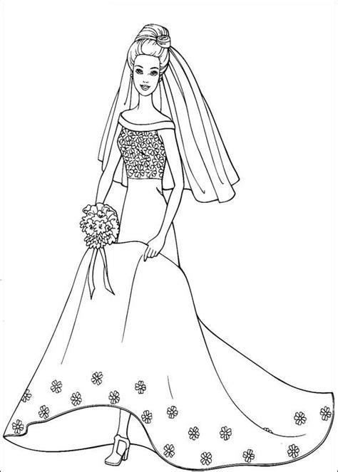 barbie  dress  coloring page