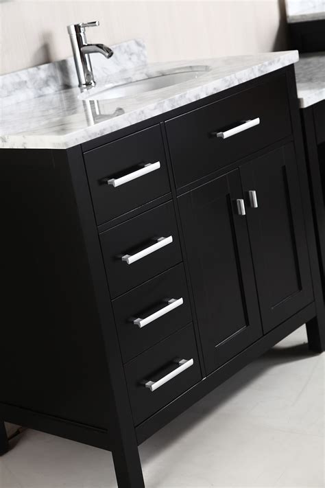 two london 36 single sink vanity set in espresso with one