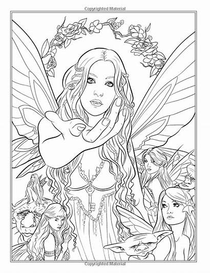 Fantasy Coloring Pages Fairy Dragons Selina Adults