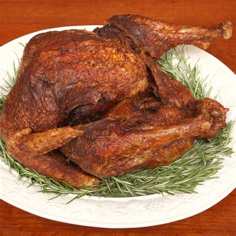 turkey fried deep recipes thanksgiving recipe epicurious fry herbs neely steps food temperature fire