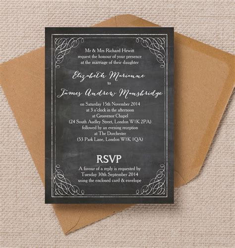 Chalkboard  Ee  Wedding Ee    Ee  Invitation Ee   Gallery