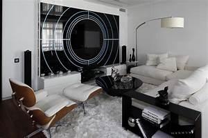 Moderne Wohnzimmer Schwarz Weiss : black and white contemporary interior design ideas for your dream home homesthetics ~ Markanthonyermac.com Haus und Dekorationen