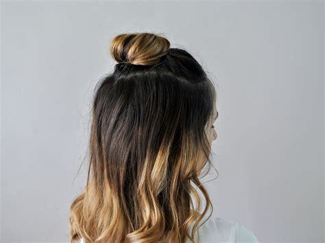 How To Do A Half Up Top Knot