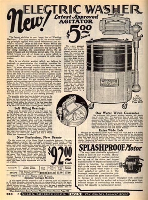 Washing machine in the 1920 Sears Catalog.   1920s Tech