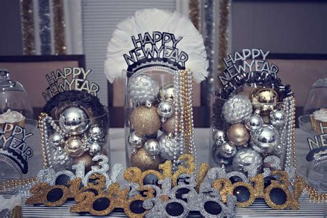 silver gold black  years party ideas photo