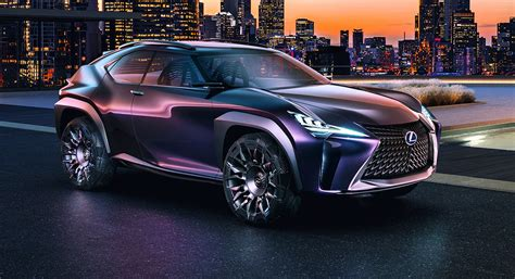 lexus ux concept reveals compact suv plans  paris
